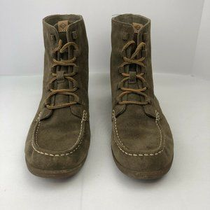 Sperry Top Sider 10M Suede High Top Chuck Boots